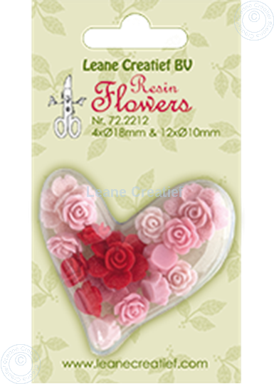 Afbeelding van Resin flowers roses pink