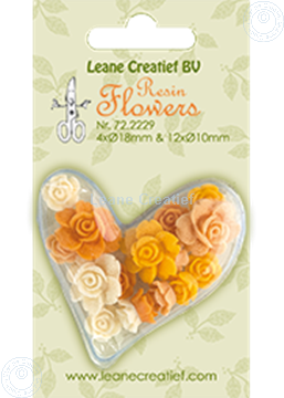 Image de Resin flowers roses yellow