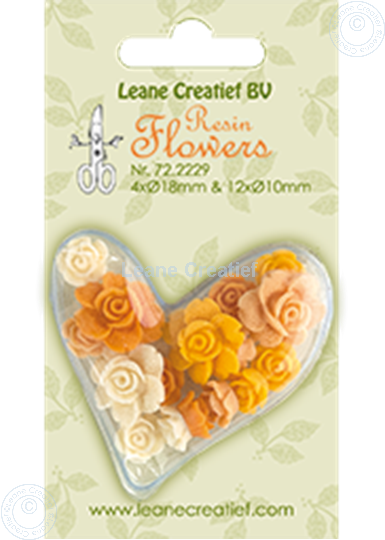 Image sur Resin flowers roses yellow