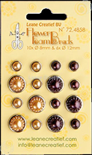 Image sur Pearl brads yellow/brown