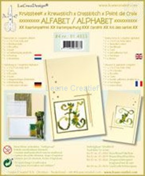 Picture of Alphabet cross stitch cards kit #4