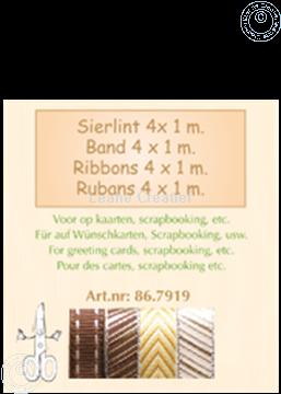 Image de Ruban 4x1 m brun or