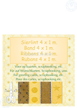 Picture of Ribbon 4x1 m gold