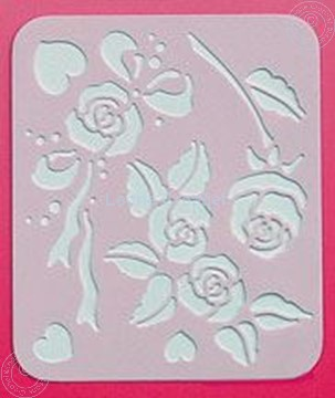 Picture of LeCreaDesign® Spirella® stencil roses