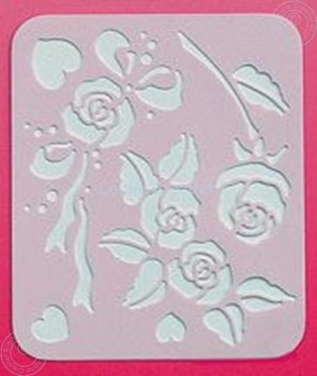 Afbeelding van LeCreaDesign® Spirella sjabloon rozen
