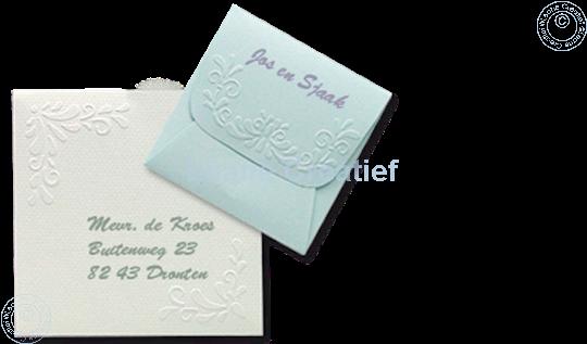 Image sur LeCreaDesign® Pochoir d'enveloppes 12,5x12,5cm