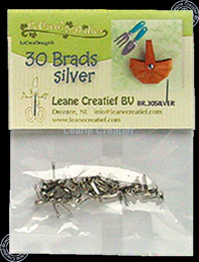 Bild von 30 Brads silver 5mm