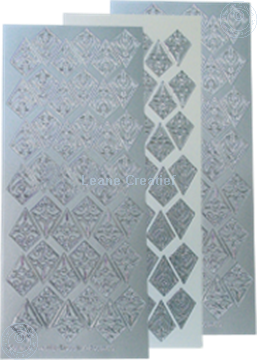 Picture of LeCreaDesign® Rosettes stickers / peel offs silver