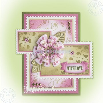 Bild von Fantasy paper flower on frame pink