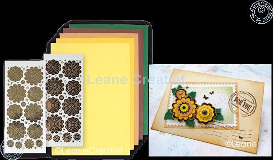 Afbeelding van Sticker &  Foam Flowers Set 4 geel