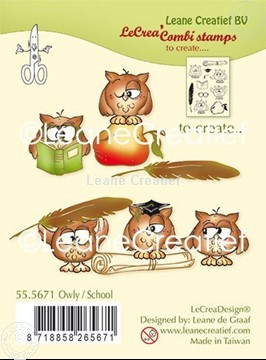 Picture of Combi clear stamp Owly-School
