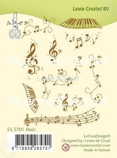Afbeelding van Combi clear stamp Muziek