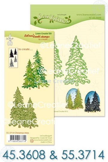Bild von Set Lea'bilitie & Clearstamp Christmas trees
