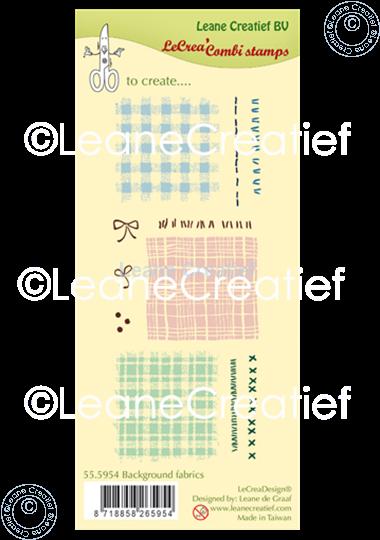 Bild von LeCreaDesign® Silikon Stempel  Hintergrund Stoff