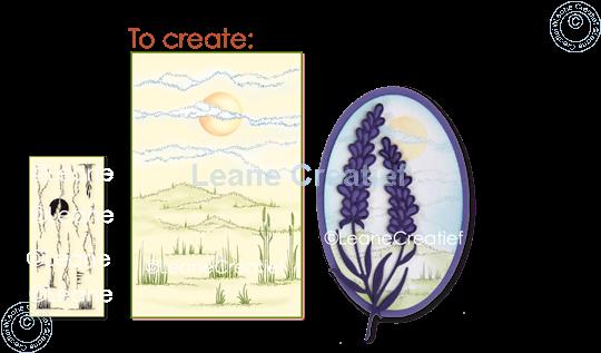 Afbeelding van LeCreaDesign® clear stamp Landschap achtergrond