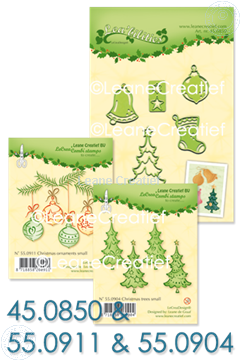 Picture of Set Lea'bilitie & Clearstamp Christmas trees & ornaments
