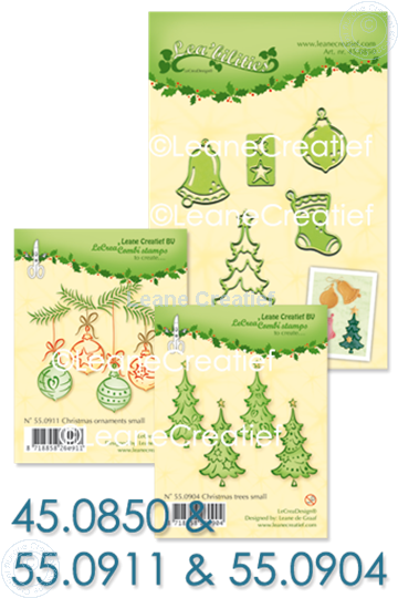 Image sur Set Lea'bilitie & Clearstamp Christmas trees & ornaments