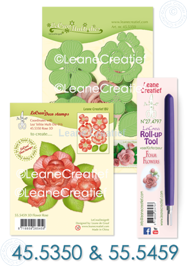 Image sur Set Multi die & Clearstamp Rose & Roll-up tool