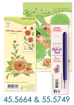 Picture of  Multi die & Clear stamp Chrysanthemum & Roll-up tool