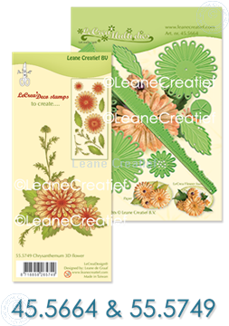 Picture of  Multi die & Clear stamp Chrysanthemum