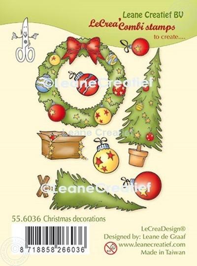Afbeelding van LeCreaDesign® combi clear stamp Kerst decoraties