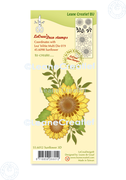 Picture of LeCreaDesign® deco clear stamp Sunflower 3D