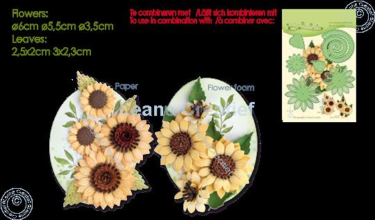Image sur LeCreaDesign®  tampon clair Fleur de Soleil 3D