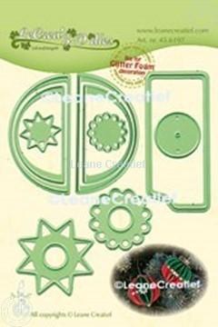 Afbeeldingen van Lea'bilitie® Glitter Foam decoratie bal  gladde rand snijmal