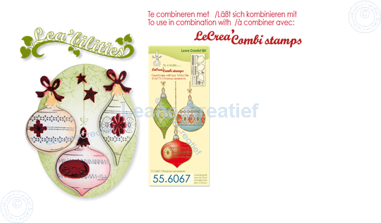 Picture of Lea'bilitie® Christmas ornaments  cut and embossing die
