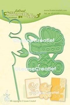 Afbeeldingen van Lea'bilitie® Kinderwagen  silhouette snij en embossing mal