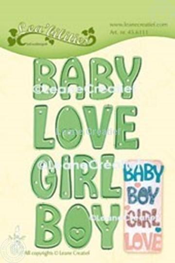 Afbeelding van Lea'bilitie® Words  Baby, Boy, Girl, Love snijmal