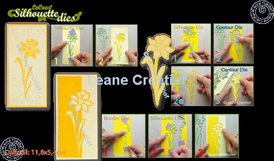 Afbeelding van Lea'bilitie® Silhouette die Narcis snij en embossing mal