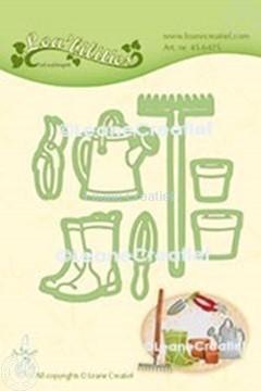 Afbeeldingen van Lea'bilitie® Tuin set gieter, hark, laarzen snij en embossing mal