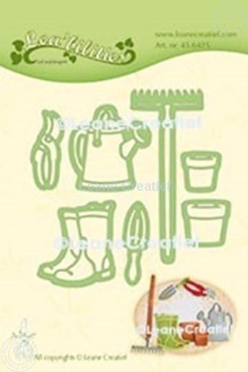Afbeelding van Lea'bilitie® Tuin set gieter, hark, laarzen snij en embossing mal