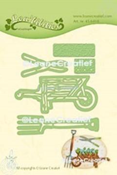 Afbeeldingen van Lea'bilitie® Tuin set kruiwagen, spade, snoeischaar snij en embossing mal