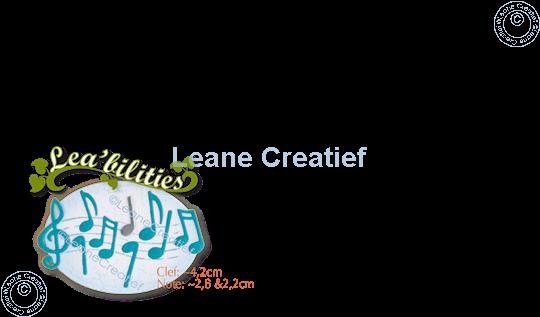Afbeelding van Lea'bilitie® Muziek noten snijmal