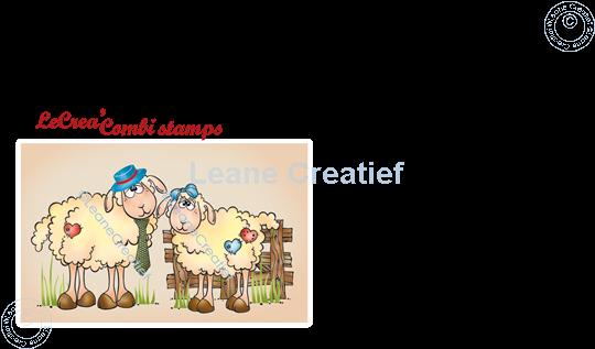Afbeelding van LeCreaDesign® combi clear stamp Schapen