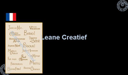 Afbeelding van LeCreaDesign® combi clear stamp Franse teksten 3