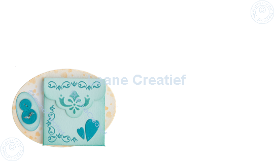Afbeelding van LeCreaDesign® combi clear stamp Swirl Vierkanten