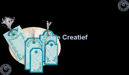 Afbeelding van LeCreaDesign® combi clear stamp Swirl Rechthoeken