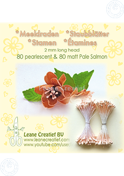 Picture of Stamen 2mm,  80 matt & 80 pearl Pale salmon