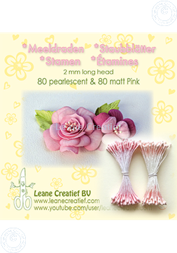 Picture of Stamen 2mm,  80 matt & 80 pearl Pink