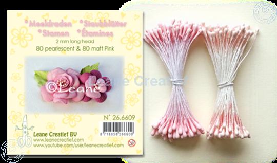 Afbeelding van Meeldraden 2mm,  80 matt & 80 pearl Pink
