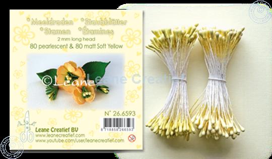 Afbeelding van Meeldraden 2mm,  80 matt & 80 pearl Soft yellow