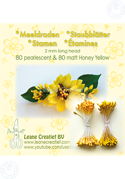 Picture of Stamen 2mm,  80 matt & 80 pearl Honey yellow