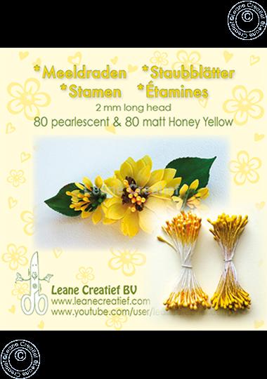 Afbeelding van Meeldraden 2mm,  80 matt & 80 pearl Honey yellow