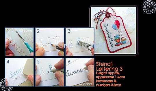 Afbeelding van 2 Templates for Handlettering Alfabet Nr. 3, Hoofdletters + Kleine letters +Cijfers