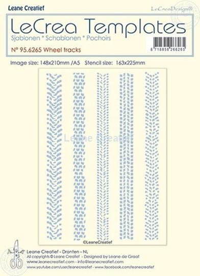 Image sur Pochoir Traces de pneus