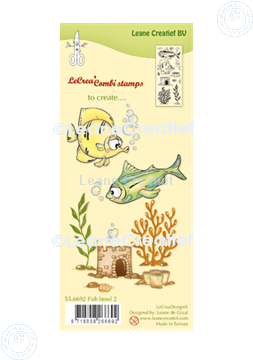 Picture of LeCreaDesign® combi clear stamp Fish 2.