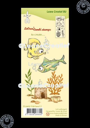 Image sur LeCreaDesign® combi tampon clair Poissons 2.